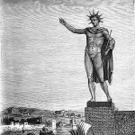 The Colossus of Rhodes depicted in 1880