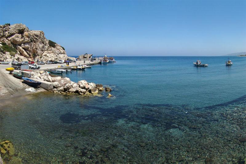 The Kamiros Skala Dock, Rhodes island, Greece