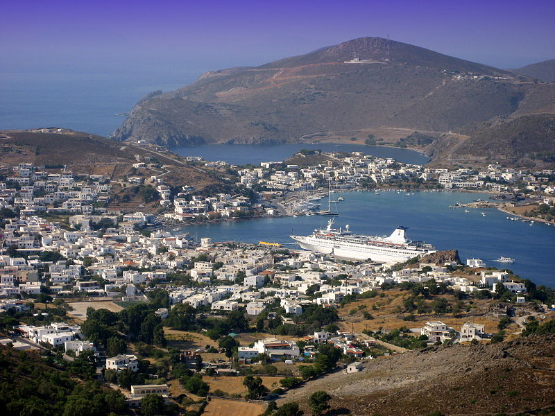 The Port (Skala) of Patmos Island, Greece