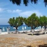 The beach of Kremasti village, Rhodes island, Greece