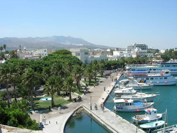 The harbor of Kos city, Greece
