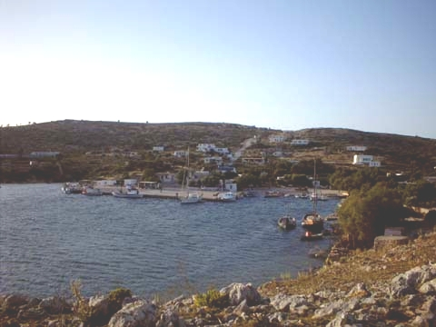 The main town of Arki and its port (small island near Leros)