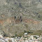 The medieval town-castle of Chorio (or Chora), Kalymnos, Dodecanese, Greece