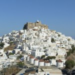 View of Chora and castle in Astypalaia - Photo by S. Lambadaridis