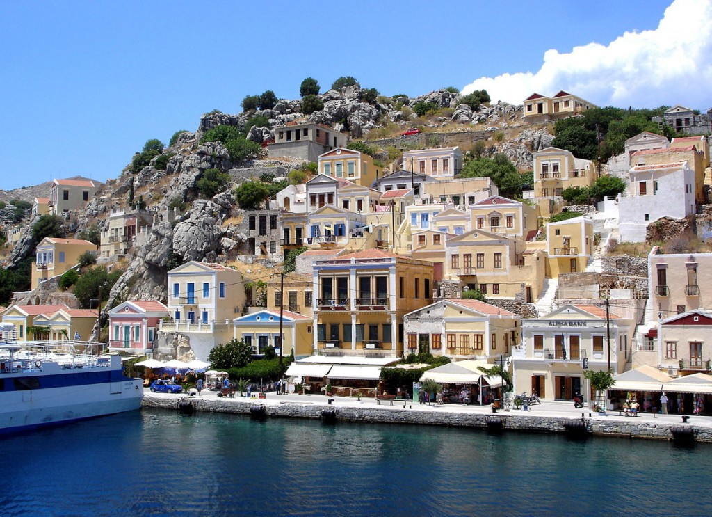 View of Symi from the port