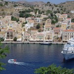 View of Symi port, Dodecanese, Greece
