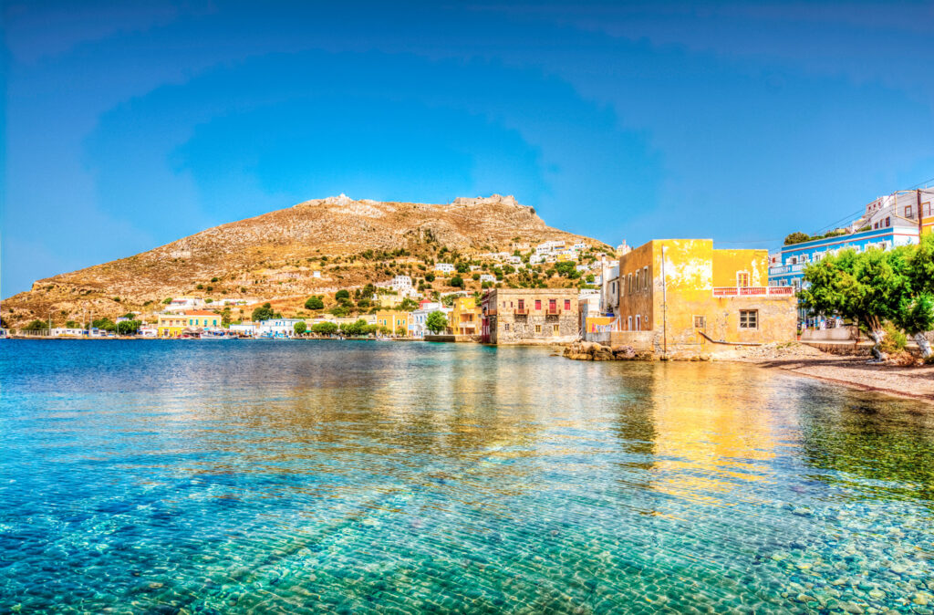 Agia Marina in Leros island, Dodecanese Greece