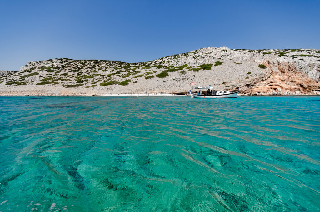 View of Koutsomytis islet near Astypalea, Dodecanese Greece