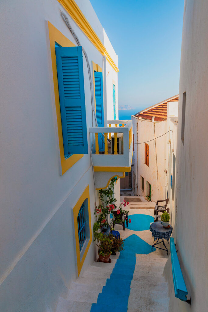 Mandraki alley, Nisyros, Dodecanese Greece