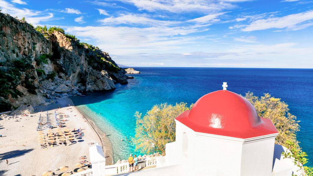 Kyra Panagia beach in Karpathos, Dodecanese Greece