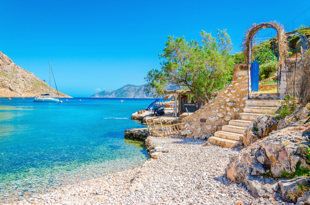 Kalymnos beach, Dodecanese, Greece