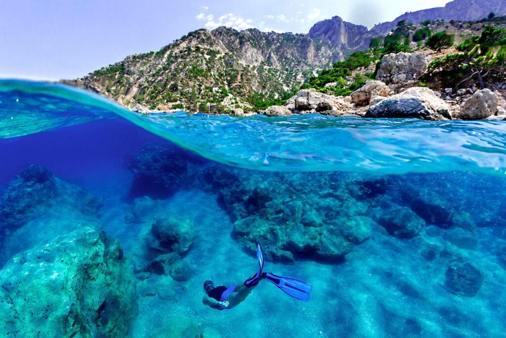 Underwater photo, Karpathos, Dodecanese Greece