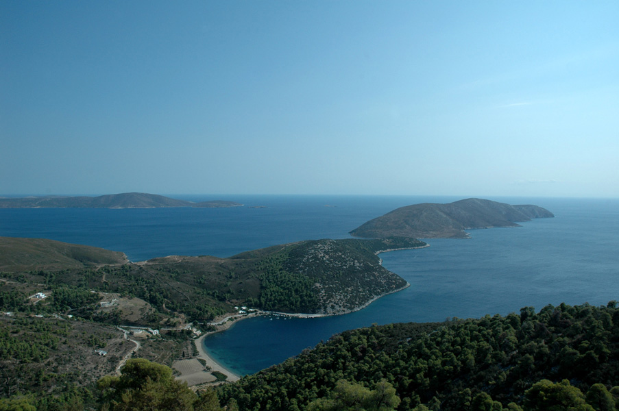 Coastline of Skyros, Sporades, Greece