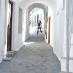 A street in chora, Skyros, Greece