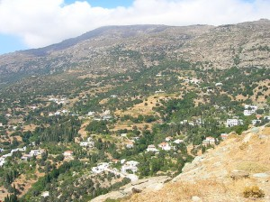A view of Paleopolis, Andros, Cyclades, Greece