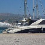 Boats in Agia Marina, Antiparos, Cyclades, Greece