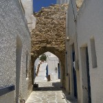 The castle gate, Antiparos, Cyclades, Greece