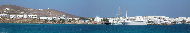 Panorama of Antiparos, Cyclades, Greece