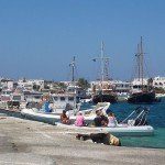 Antiparos habour, Cyclades, Greece