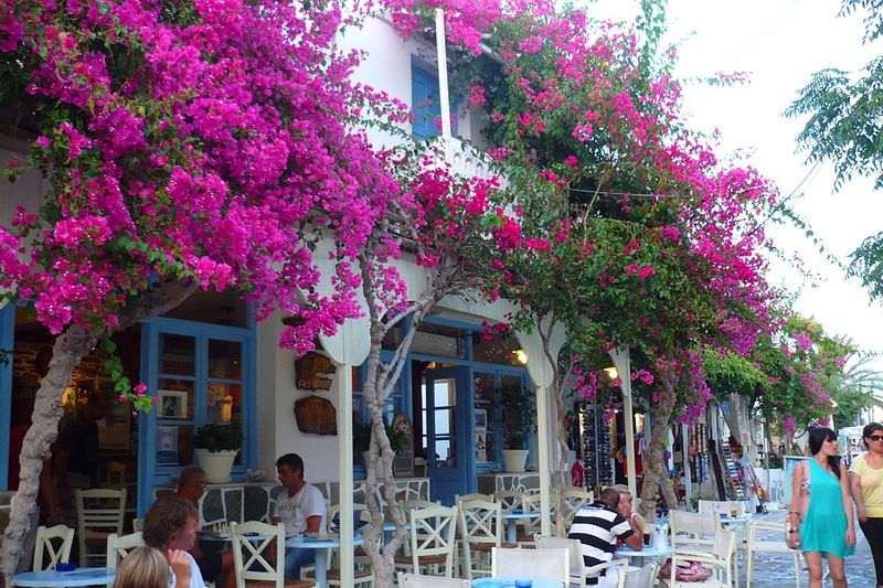 Antiparos, traditional cafes, Cyclades, Greece