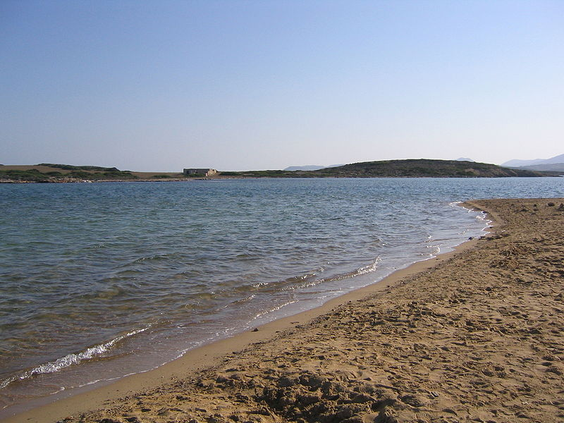 Beach on Antiparos, Cyclades, Greece