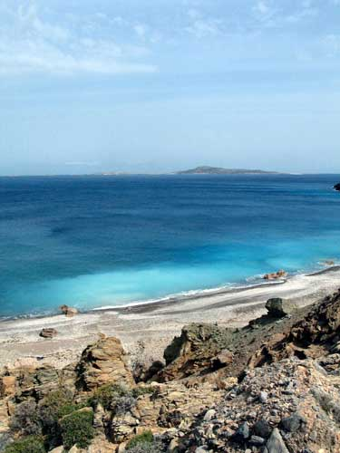 Antiperatos beach, Kasos island, Dodecanese, Greece