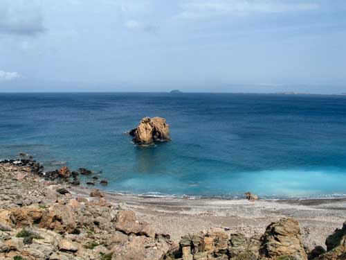 Beach of Tripitou, Kasos island, Dodecanese, Greece