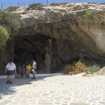 Cave entrance, Antiparos, Cyclades, Greece