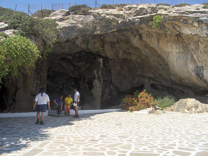 Cave entrance, Antiparos, Cyclades, Greece