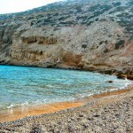 Beach at Chelatros, Kasos island, Greece