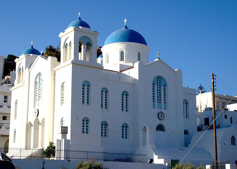 Church in Chora, Ios, Cyclades, Greece