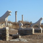 The Lions of Delos, Cyclades, Greece