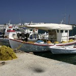 Fishing boats on Antiparos, Cyclades, Greece