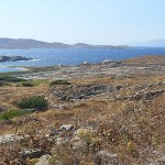 General view of Delos, Cyclades, Greece