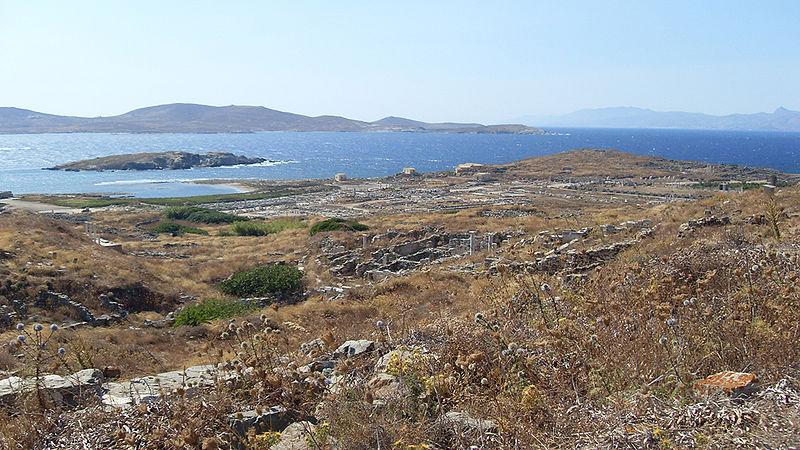 General view of Delos, Cyclades, Greece