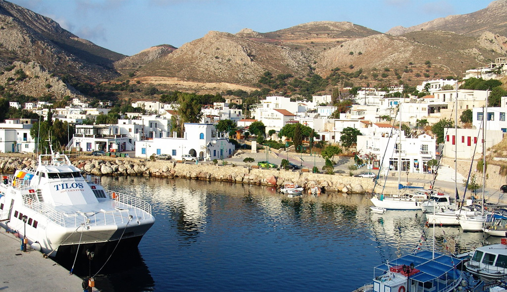 Habour of Tilos island - Photo by S. Lambadaridis
