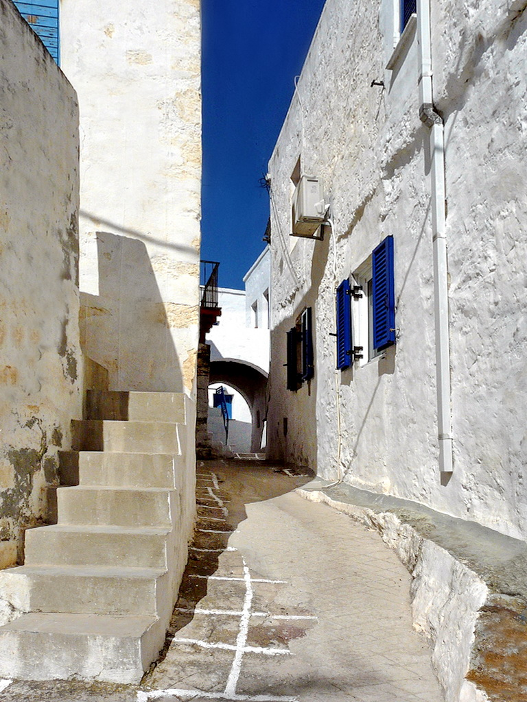 Street in Chorio Kimolou, Kimolos - Photo by S. Lambadaridis