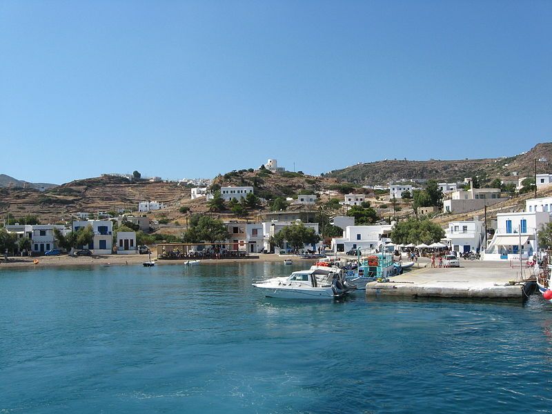 View of Psathi, the port of Kimolos, Greece