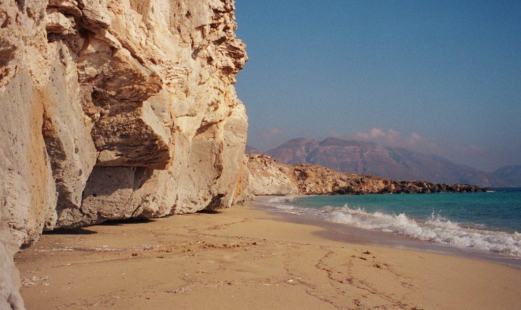 Marmara beach at Armatheia, Kasos island, Dodecanese, Greece