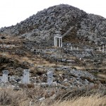 Mount Cynthus with a sanctuary of Dionysos, Delos, Cyclades, Greece