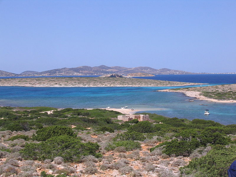 Panderonisia, Antiparos is surrounded by small islands and islets, Cyclades, Greece