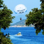 Parasailing in Skiathos, Greece
