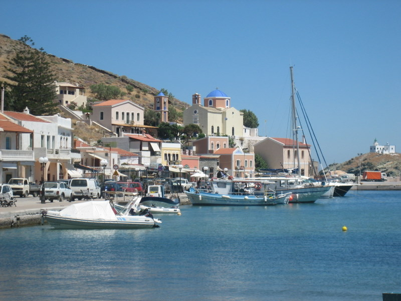 Korissia, the port of Tzia, Cyclades, Greece