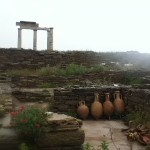 Reconstructed site on the southwestern part of Delos, Cyclades, Greece