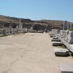 Sacred Way on Delos, Cyclades, Greece