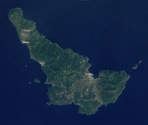 Satellite image of Skopelos, Greece