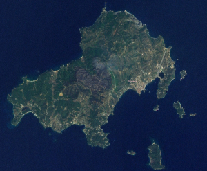 Satellite photo of Skiathos, Greece