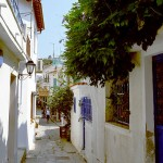 Skiathos alley, Sporades, Greece