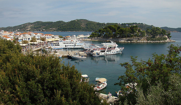 Skiathos port, Sporades, Greece
