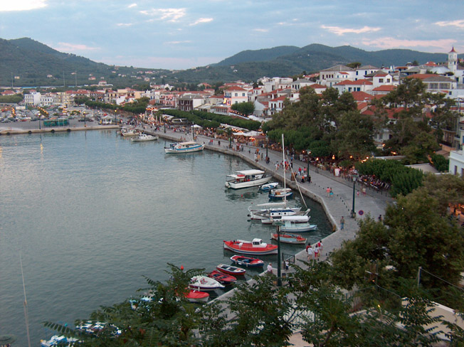 Skopelos port, Sporades, Greece